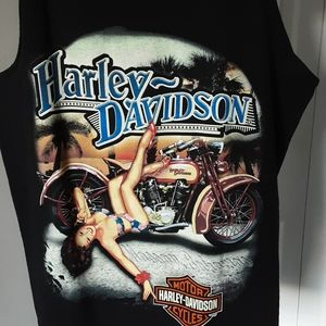 HARLEY DAVIDSON BLACK GRAPHIC TEE